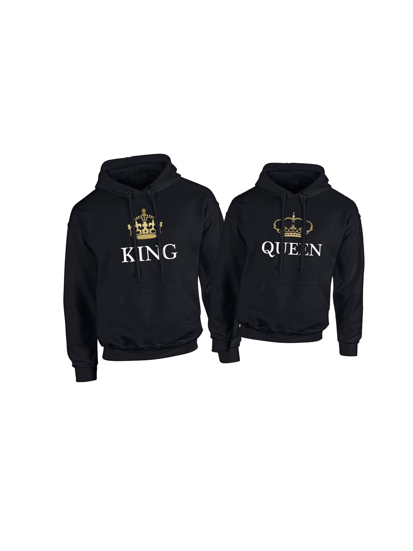 da96daa2b Mikiny pre pár King Queen
