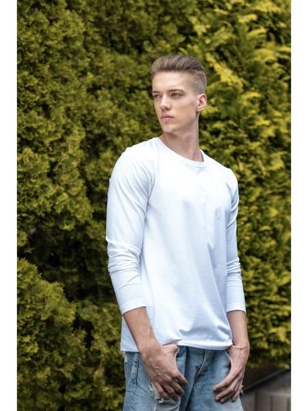 Pánske tričko okrúhly výstrih dlhý rukáv