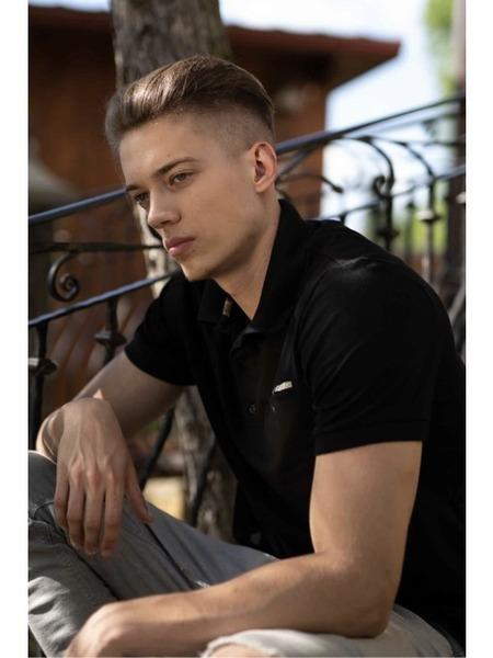 Pánske pólo tričko čierne